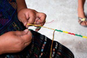 Mujeres tejedoras del Centro Cultural Santa Catarina Palopó