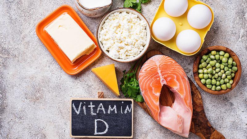 vitamina D, hierro, calcio y ácido fólico