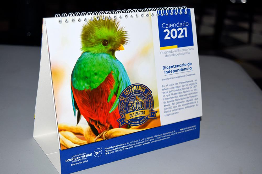Calendario 2021 Patrimonios intangibles de Guatemala